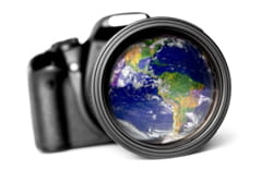 camera lens world focus