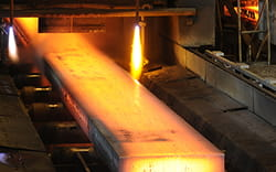 hot steel ingot