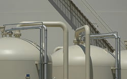 tanks with piping