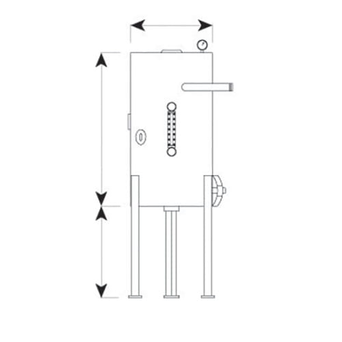 Chromalox CBS heater dimensions
