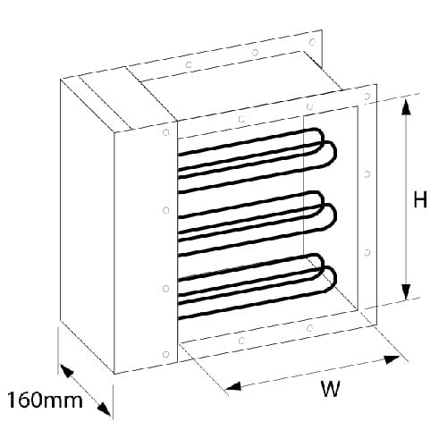 Metric Rectangular Duct Heater