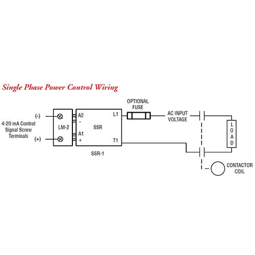 LM-2 Single Phase Control Wiring