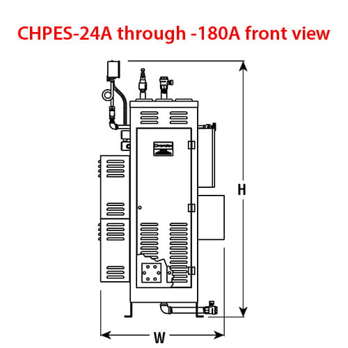 Chromalox CHPES-24A-180A front view