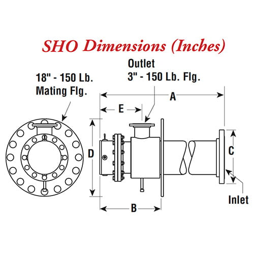 SHO Suction Heater – 02 - Dimensions
