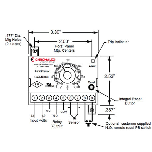 Chromalox Safety Limit Controller wiring image